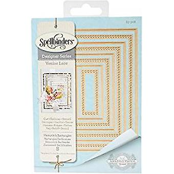 Spellbinders Hemstitch Rectangles Etched Die Nestabilities (S5-308)