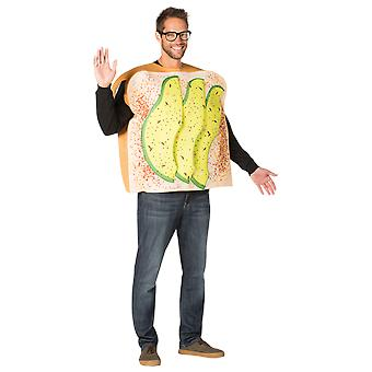 Adult Avocado Toast Food Novelty Funny Fancy Dress Costume
