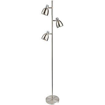 Firstlight-3 ljus golv lampa borstat stål, krom-3468BS