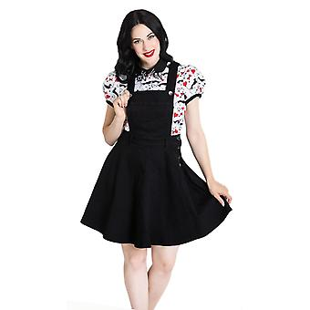 Hell Bunny Black Dakota Pinafore Dress XXL
