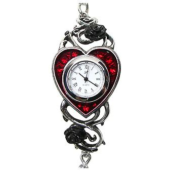 Alchemy Gothic Bed Of Blood Roses Pewter Watch