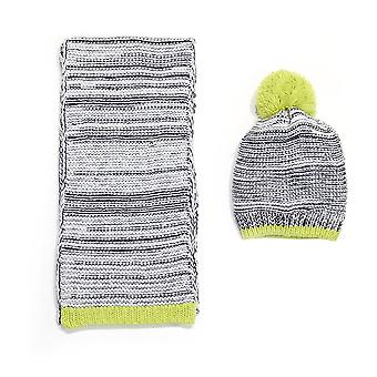 Chatties Marled Knit Beanie And Oblong Scarf Set
