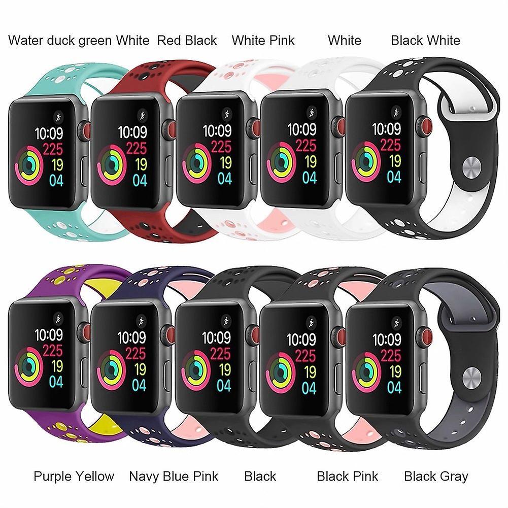För Apple Watch 42/44mm  silikon Sport klockarmband