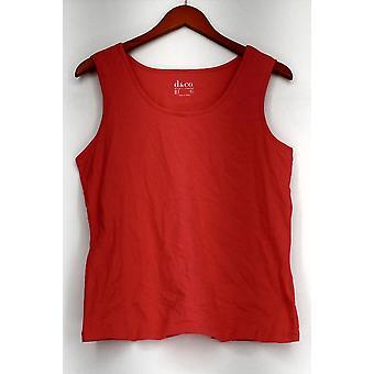 Denim & Co. Top Sleeveless Scoop Neck Knit Tank Pink A288724