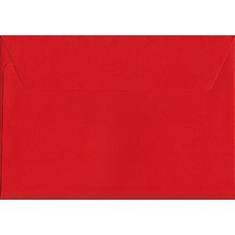 Pelaren Box röda skal/sigill C6/A6 färgade röda kuvert. 120gsm Luxury FSC-certifierat papper. 114 mm x 162 mm. plånbok stil kuvert.