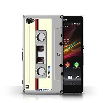 STUFF4 Case/Cover voor Sony Xperia Z1 Compact/Compact Cassette Tape/Retro Tech