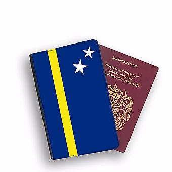 CURACAO Flag Passport Holder Style Case Cover Protective Wallet Flags design