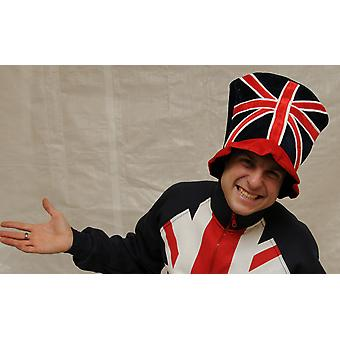 J102 Union Jack top hoed fancy dress leuk