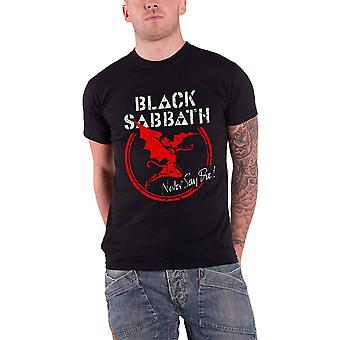 Black Sabbath T Shirt Never say die Band Logo new Official Mens distressed