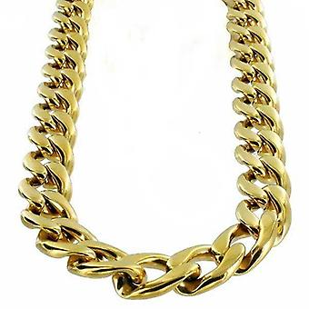 Necklace Gold Stainless Steel Armor lien 16mm