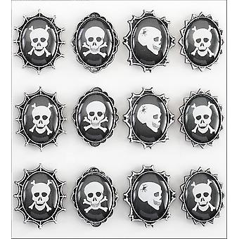 Jolee's Boutique Parcel Dimensional Stickers Skull Cameos E5020949