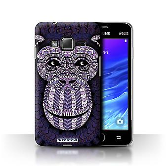 STUFF4 Tilfelle/Cover for Samsung Z1/Z130/Monkey-lilla/Aztec dyr