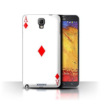 STUFF4 Case/Cover for Samsung Galaxy Note 3 Neo/Ace of Diamonds/Playing Cards