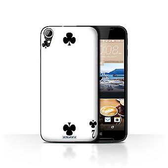 STUFF4 Case/Cover for HTC Desire 830/2 of Clubs/Playing Cards