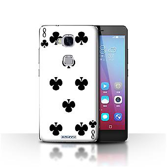 STUFF4 Case/Cover for Huawei Honor 5X/GR5/8 of Clubs/Playing Cards