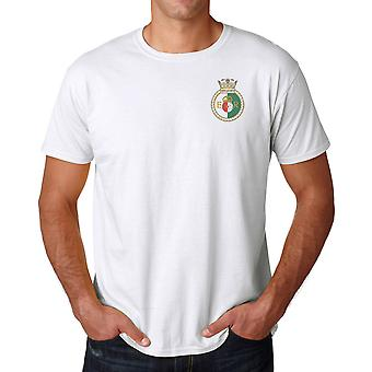 HMS Queen Elizabeth Embroidered logo - officiell Royal Navy bomull T Shirt