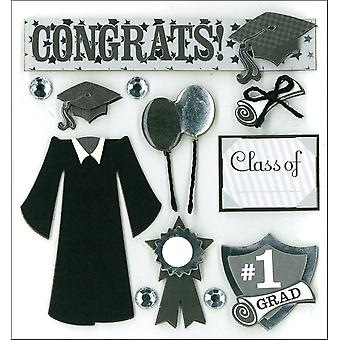 K&Co Dimensional Stickers-Graduation Day K577329