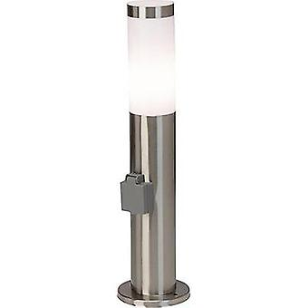 Outdoor free standing light Energy-saving bulb E27 20 W Brilliant Chorus 43693/82 Stainless steel