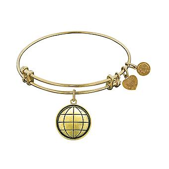 Smooth Finish Brass Earth Angelica Bangle Bracelet, 7.25