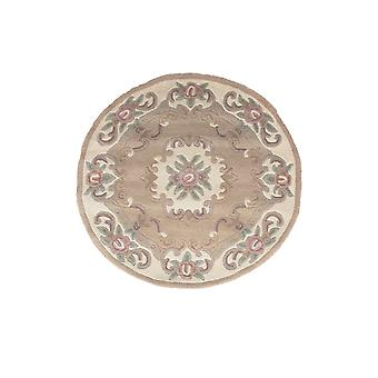 Wool Circle Traditional Rug Beige Imperial