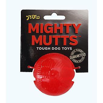 Petlove mægtige Mutts gummi bold lille