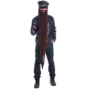 Gangster Biker Hillbilly Funny 1980s Brown Men Costume 48