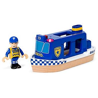 BRIO Police Boat light & sound 33820