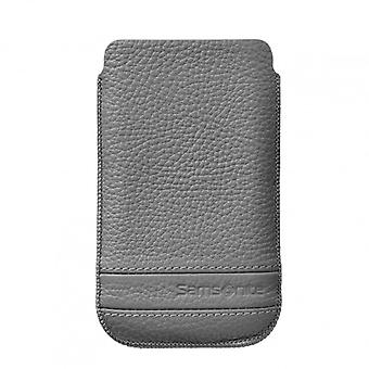 SAMSONITE CLASSIC Mobile bag leather M Gray to tex iP5 Highway