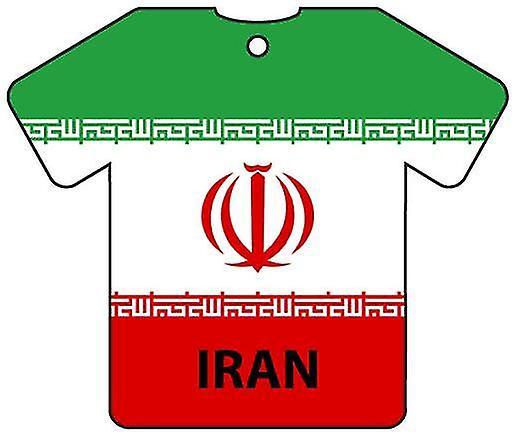 Personalised Iran Flag Jersey Car Air Freshener