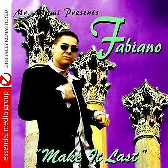 Fabiano - Make It Last [CD] USA import