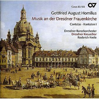 Gottfried Homilius - Gottfried agosto Homilius: Musik un Der Dresdner Frauenkirche - importación de Estados Unidos Cantatas 1 [CD]