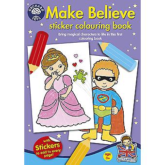 Orchard Make Believe Sticker Colouring Book