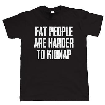 Vectorbomb, as pessoas gordas são Harder para sequestrar, Mens Tshirt engraçado (S para 5XL)