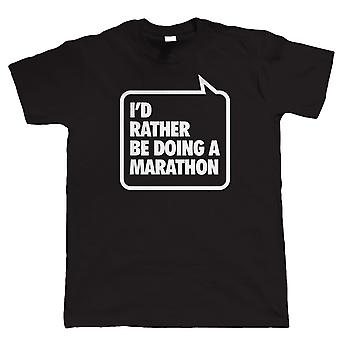 Vectorbomb, I'd Rather be Doing A Marathon, Mens Funny Running T Shirt (S to 5XL)