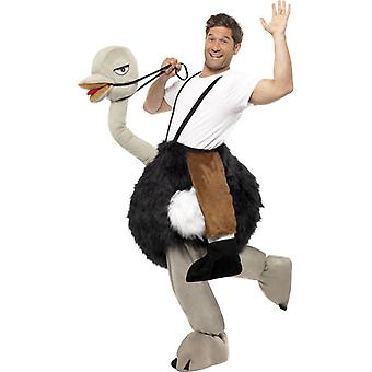 Strauss and rider pet costume plush Zoo animal ostrich costume