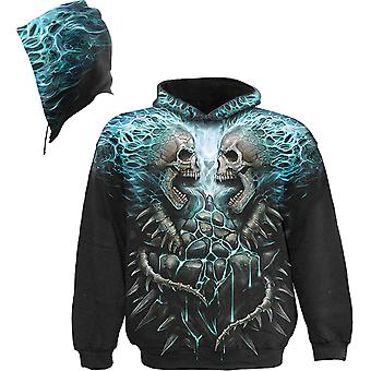 Spiral - FLAMING SPINE - All Over Print Hoodie Sweater .