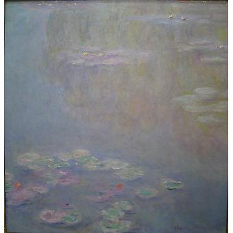 Claude Monet - waterlelies Water landschap 1908 Poster Giclee Print