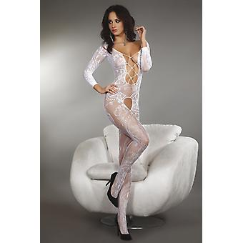 Ornate white catsuit