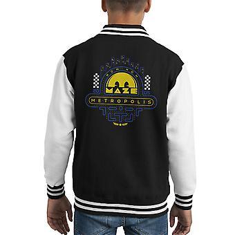 Laberinto Varsity Jacket del Pac Man metrópoli Nom Nom cabrito