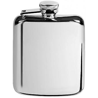 Orton West 6oz Stainless Steel Hip Flask - Silver