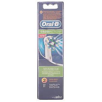 Oral B Cross Action Heads 2 Units (Hygiene and health , Dental hygiene , Brushes)