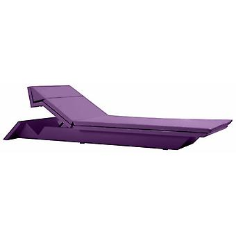 Vondom Rest deckchair lacquered steel 223x72x20 Plum 53008F
