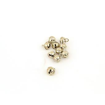 100 Silver 11mm Cat Bell Style Jingle Bells for Crafts