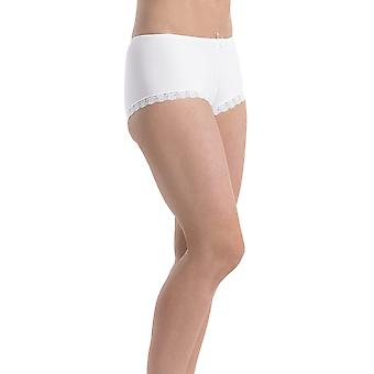 Slenderella Gaspe Microfibre White Boxer Short GL2718