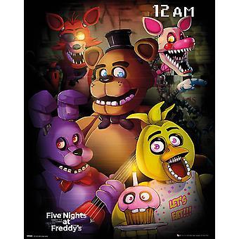 Fem nætter på Freddys gruppe Mini plakat