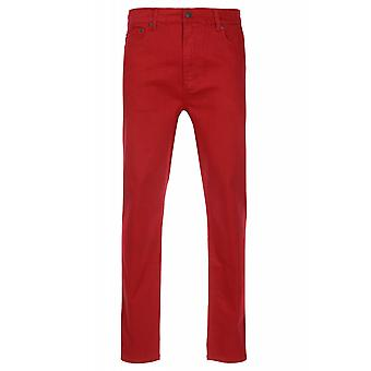 JUNK YARD Justin tapered trousers mens jeans 5-Pocket style red