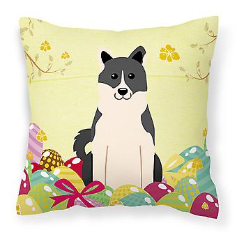 Easter Eggs Russo-European Laika Spitz Fabric Decorative Pillow