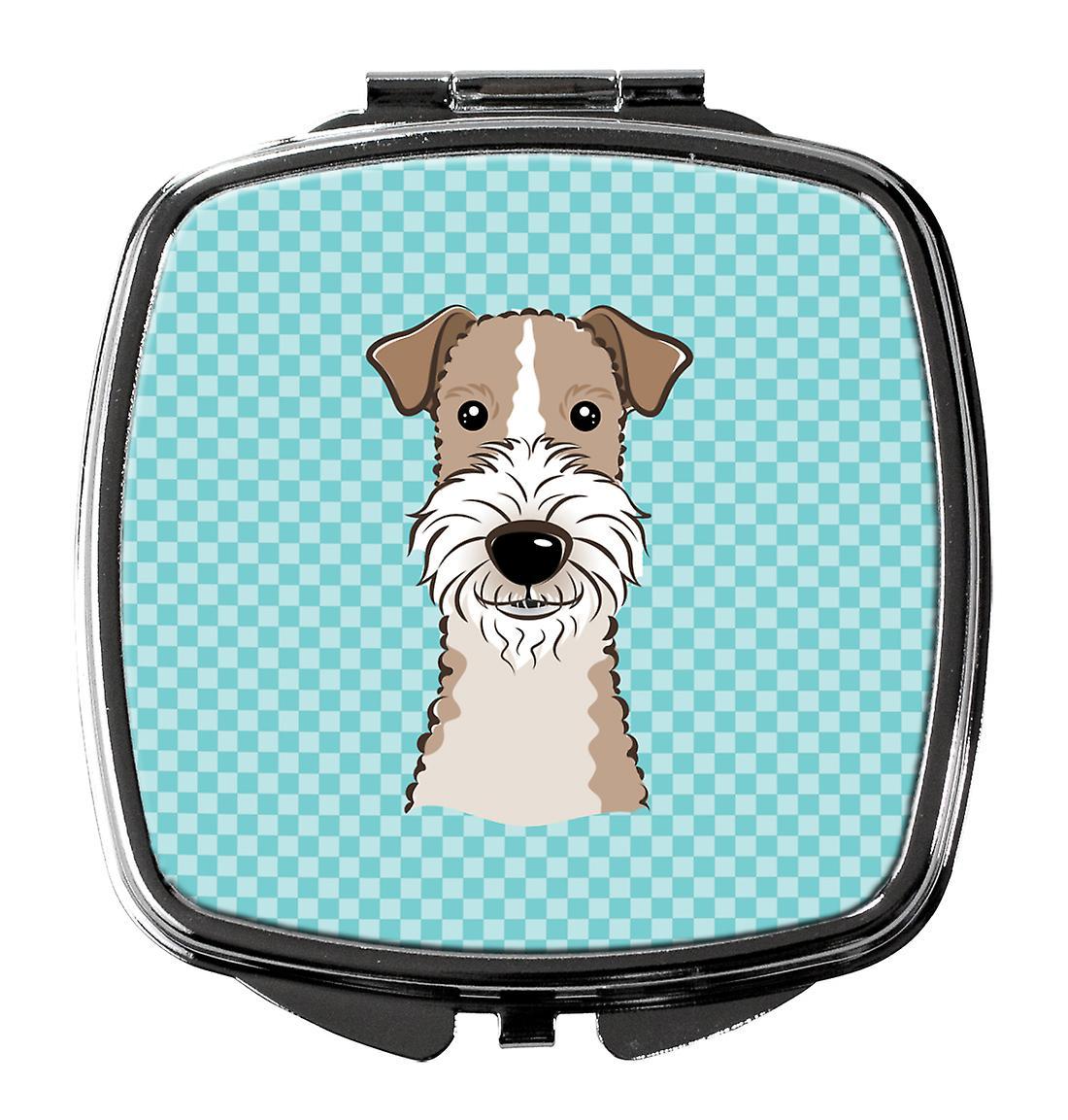 Bleu Damier Compact Fox terrier Poil Miroir Fil hdtsxBQrC
