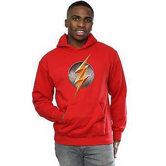 DC Comics Men's Justice League Movie Flash Emblem Hoodie
