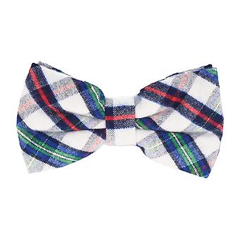 Andrews & co. fly tied loop bow tie grotesque Plaid white blue red green